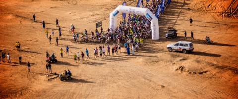 Titan Desert, Wild Culture, ©2014, Fighting the Sun for Sport: The Finish, Herbert Wright
